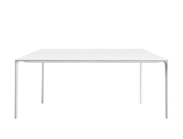 ARPER - TABLE NUUR - 240X100 cm  pieds Blanc - Plateau Blanc