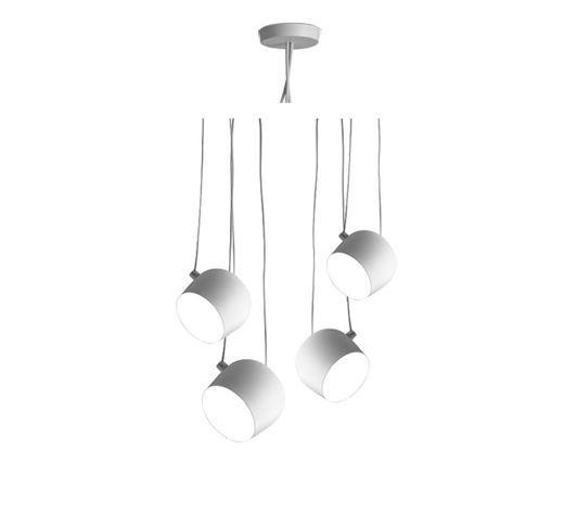rosace multiple pour suspension aim led blanc. Black Bedroom Furniture Sets. Home Design Ideas