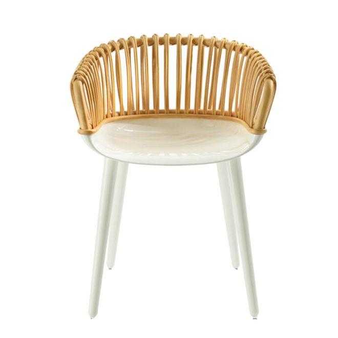 fauteuil cyborg club osier pieds blanc brillant. Black Bedroom Furniture Sets. Home Design Ideas