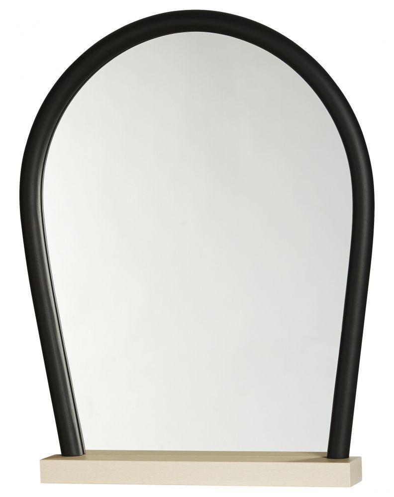 miroir bent base bois cadre noir. Black Bedroom Furniture Sets. Home Design Ideas