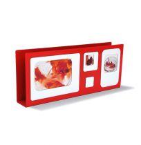PRESSE CITRON - PORTE LETTRE CADRE - Rouge & blanc