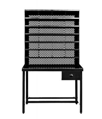 Meuble casier de tri tolix noir textur ral 9005 - Meuble tolix ...