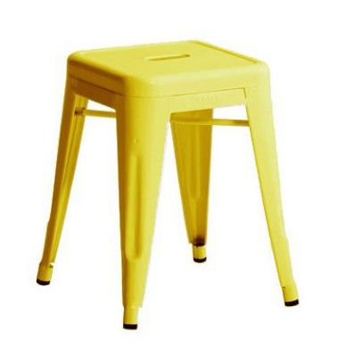 tabouret tolix h45 cm jaune citron ral 1018 brillant. Black Bedroom Furniture Sets. Home Design Ideas