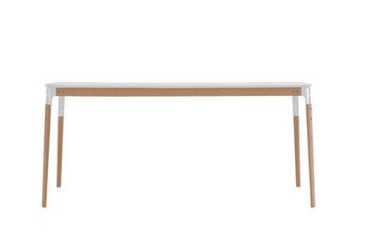 MAGIS - TABLE STEELWOOD - Blanc & hêtre 145*145