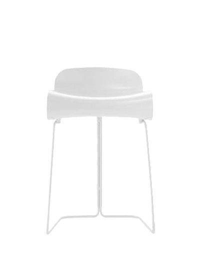KRISTALIA - TABOURET BCN FIXE H 50CM - Blanc pied blanc