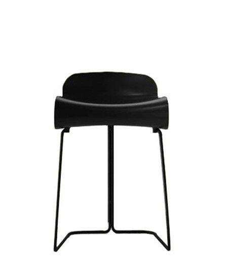 KRISTALIA - TABOURET BCN FIXE H 50CM - Noir pied noir