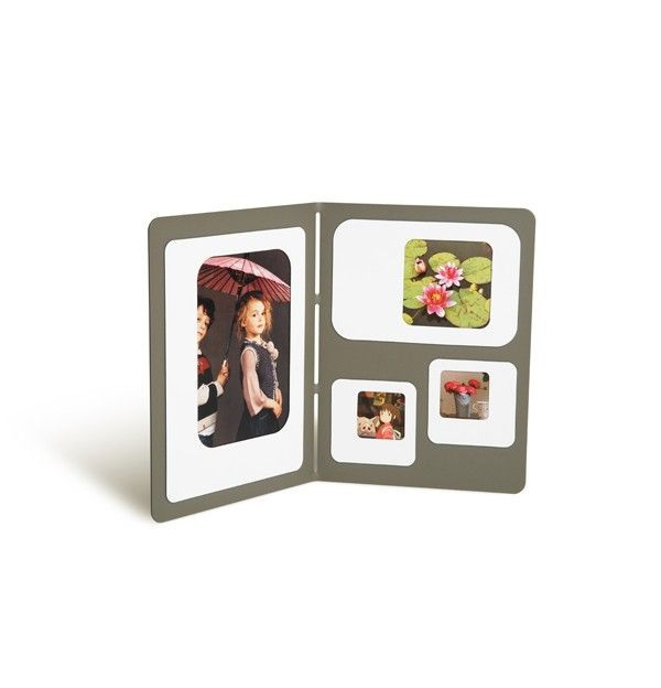PRESSE CITRON - CADRE PHOTO MAGNETIQUE C4 - Gris & Blanc