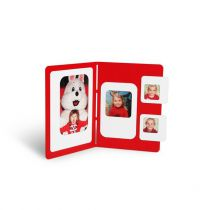 PRESSE CITRON - CADRE PHOTO MAGNETIQUE C4 - Rouge & Blanc