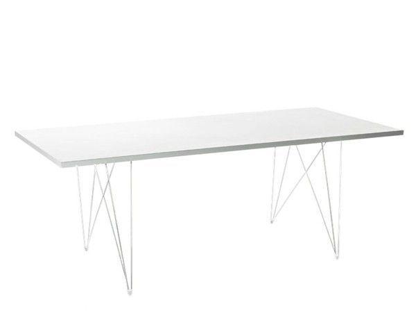MAGIS - TABLE TAVOLO XZ3 200*90 - Pied blanc Plateau blanc