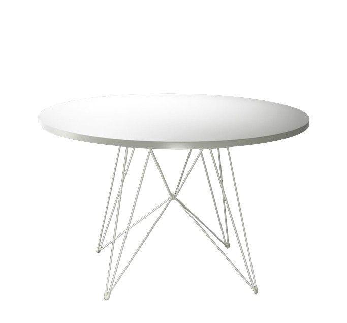 MAGIS - TABLE TAVOLO XZ3 Ø 120 - Pied blanc Plateau blanc