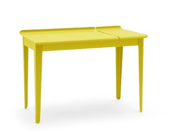 bureau a clapet tolix jaune citron ral 1018. Black Bedroom Furniture Sets. Home Design Ideas
