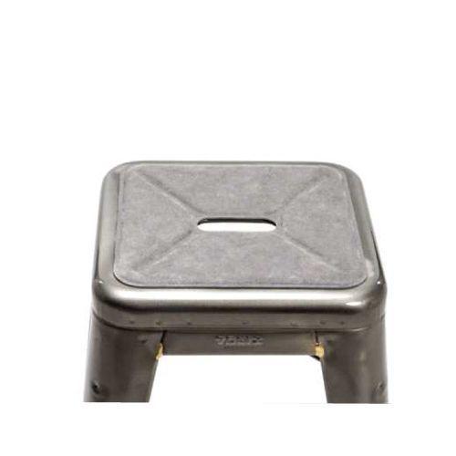 galette tabouret- alcantara gris clair