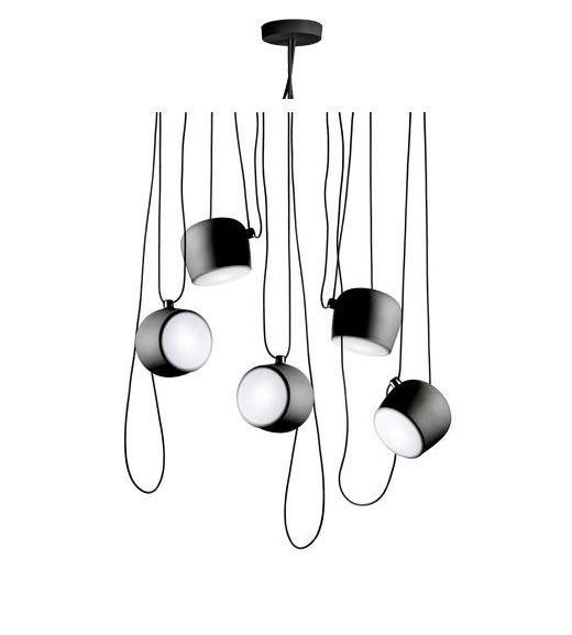 rosace multiple pour suspension aim led noir. Black Bedroom Furniture Sets. Home Design Ideas