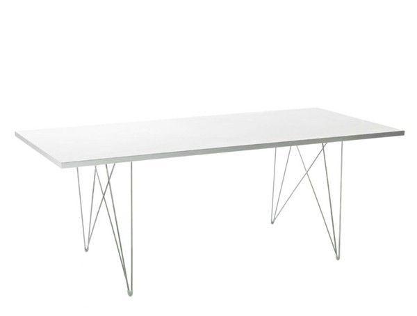 MAGIS - TABLE TAVOLO XZ3 200*90 - Pied chromé Plateau blanc