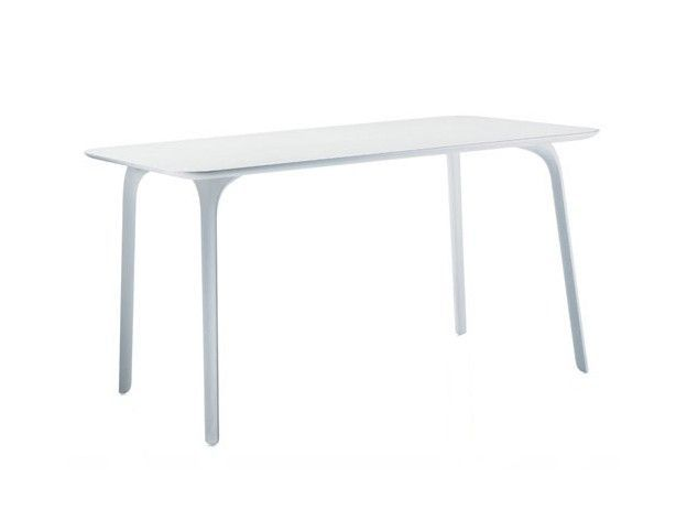 MAGIS - TABLE FIRST RECTANGULAIRE 140*80 - Blanc verni