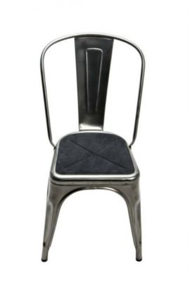 galette assise chaise a fauteuil a56 tolix alcantara anthracite. Black Bedroom Furniture Sets. Home Design Ideas