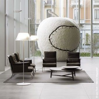 FLOS - LAMPADAIRE ROMEO MOON F - Gris dimmer