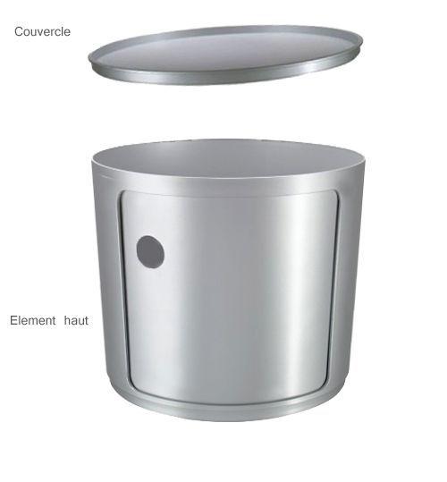 elem  haut et couvercle- silver  créé