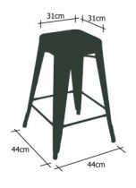 dimension tabouret h75