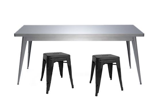 table 55- 70x130- brut verni brillant_et h 45 noir mat