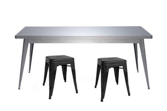 table 55- 70x130- brut verni brillant_et h 45 noir mat