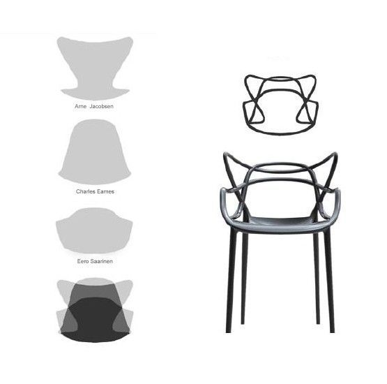 KARTELL - FAUTEUIL MASTERS - Gris clair