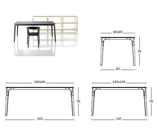 MAGIS - TABLE STEELWOOD - Blanc & Blanc 180*90