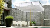 Breezer-parasol blanc-toit blc deco