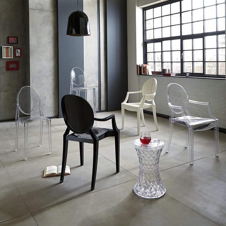 chaise-Kartell-Starck-Louis-Ghost-Victoria-Ghost-transparente-opaque