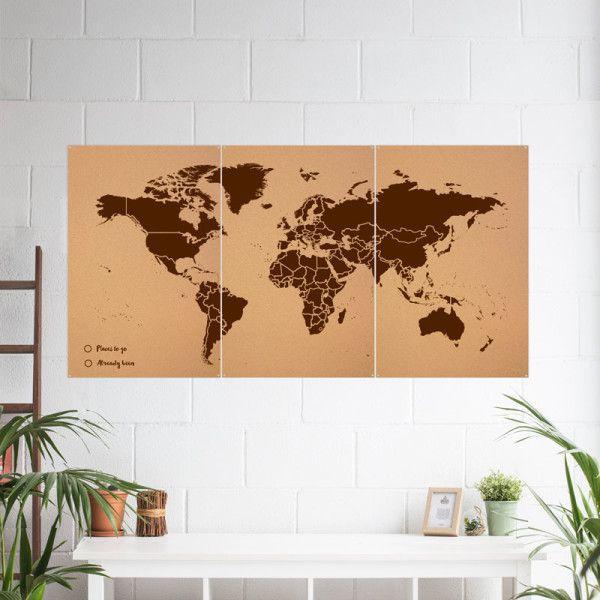 Carte du monde en liège - Misswood