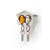 Accroche clés moineau duo -  Qualy