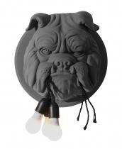 Sculpture déco bulldog design en céramique noir