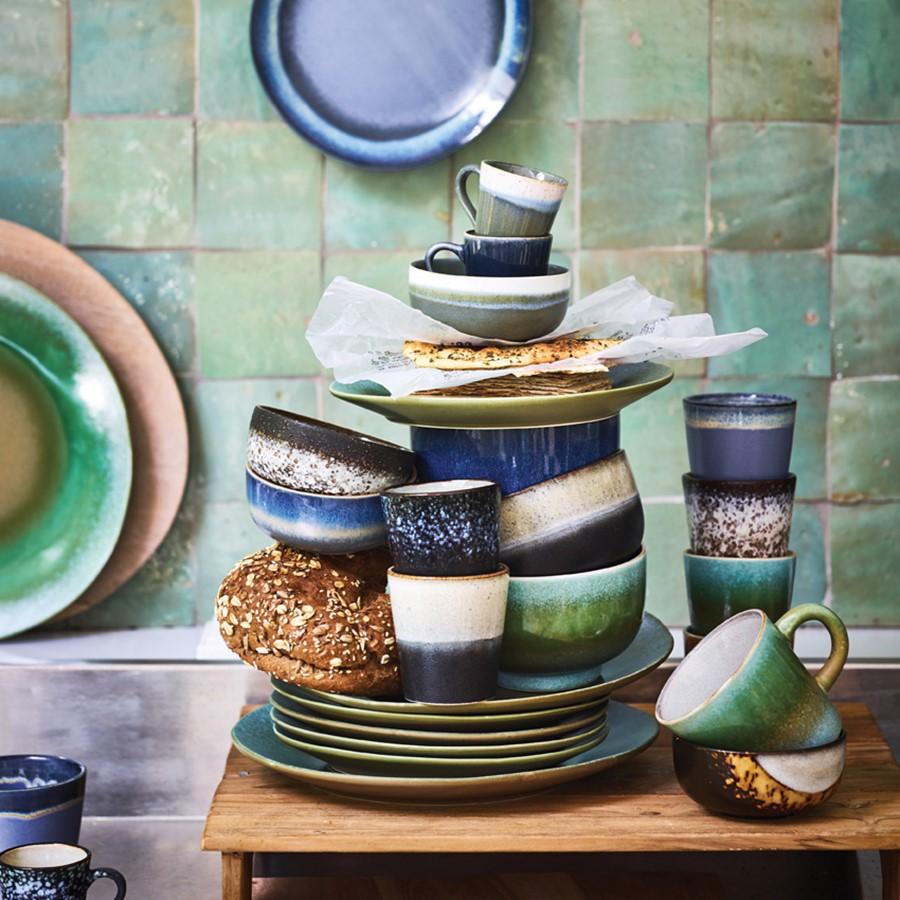Assiette 70's - Vert - Hk Living
