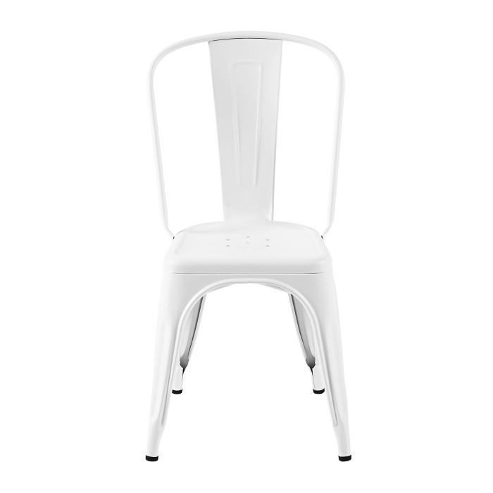 Assise industriel en blanc mat de la marque Tolix. Le model est A.