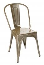 Assise Tolix model A en finition beige muscade.