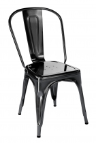 Chaise A Tolix très tendance en finition noir brillante.