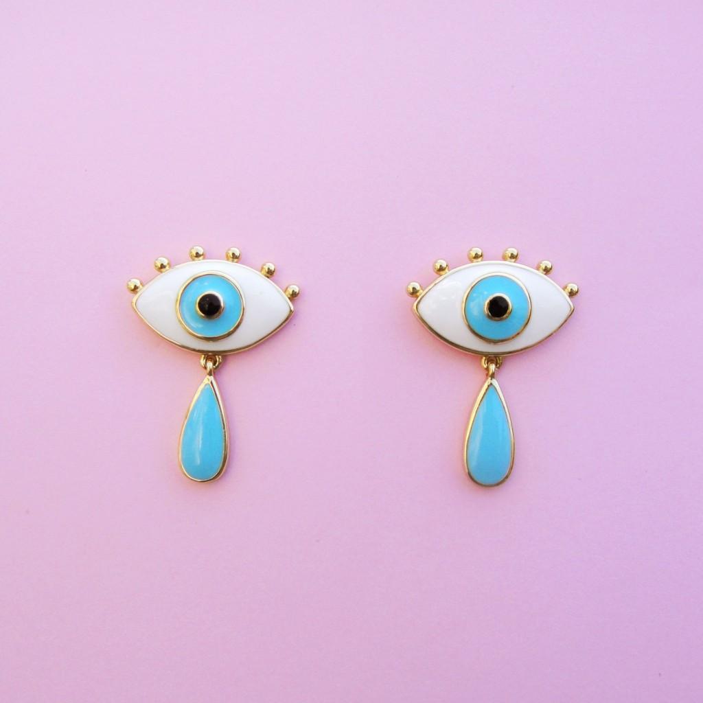 Boucles d\'oreilles oeil larme - Coucou Suzette