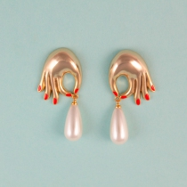 Boucles d\'oreilles perles - Coucou Suzette