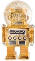 Robot en forme de boule à neige décoratif de coloris doré