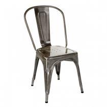 Chaise A - Brut vernis - Tolix - Gris lazuré