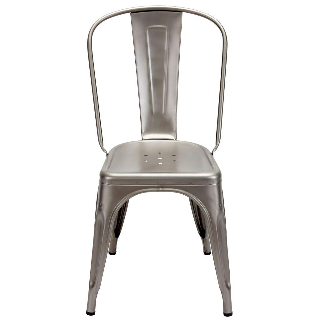 Chaise A - Brut vernis - Tolix - Satiné