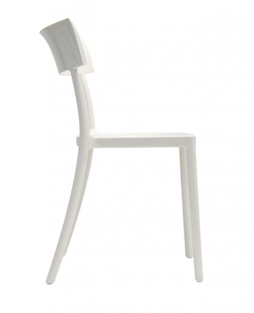 Chaise Catwalk - Kartell - Blanc