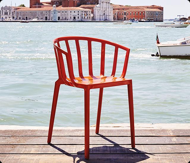 Fauteuil Venice - kartell - Rouge orangé