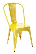 Chaise tendance jaune citron brillante de la marque Tolix