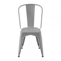 Chaise laqué mat gris souris au lignes industriel de la marque Tolix.