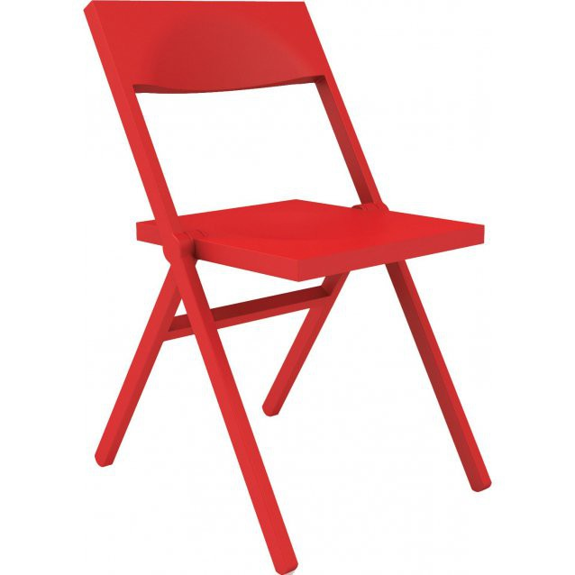 Chaise pliante Piana - Alessi - Rouge