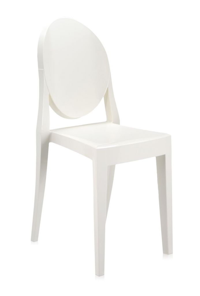 Lot de 2 chaises Victoria Ghost - Kartell - Blanc brillant