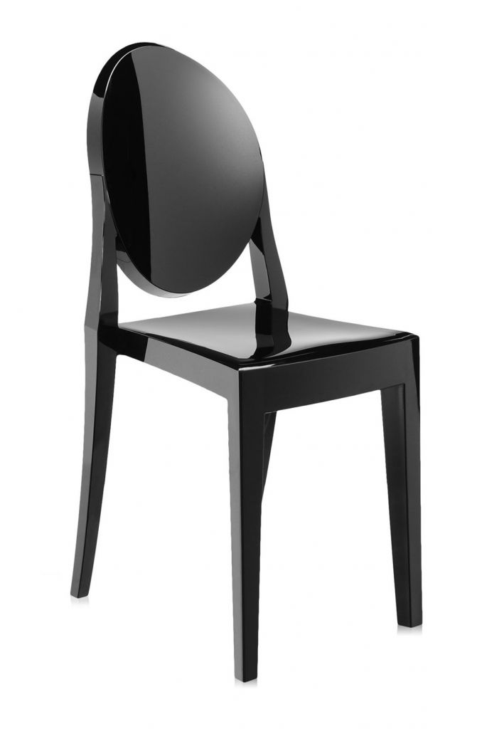 Lot de 2 chaises Victoria Ghost - Kartell - Noir brillant