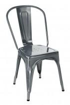 Chaise de typologie vintage en gris souris, de la marque Tolix