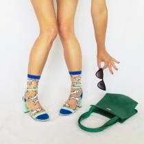 WUWAZI 4 Paires College Style Mode Dr/ôle Smiley Visage Tube Chaussettes Femmes Color/é Cr/éatif pour Dames FilleS Cadeaux